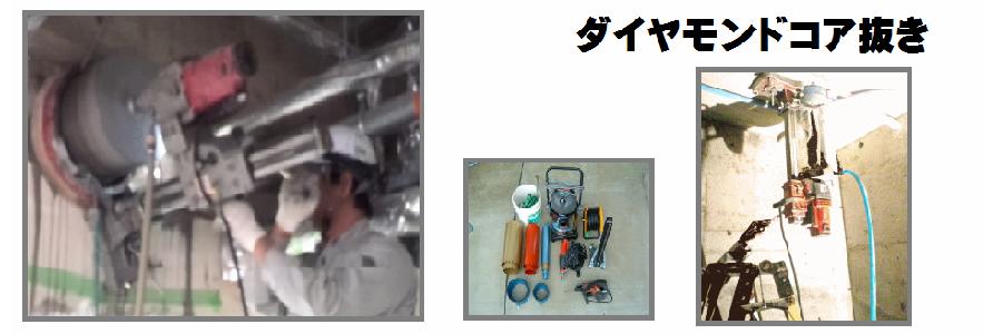 コア抜き工事4|有限会社サワケン